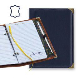Libreta de notas con anillas - Piel