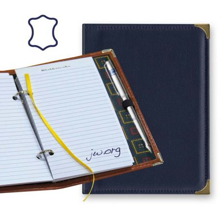 Notebook with rings - Leather