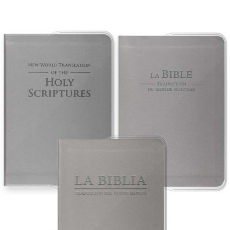 Capa vinil PVC - Bíblia Grande cinzento