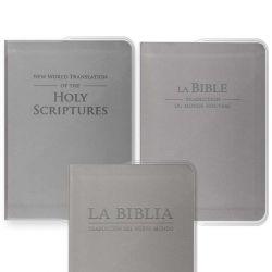 Capa vinil PVC - Bíblia Bolso cinzento