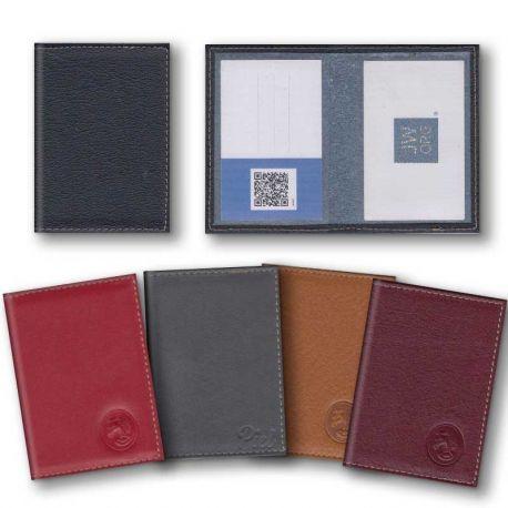 Porta tarjetas sencillo - Piel