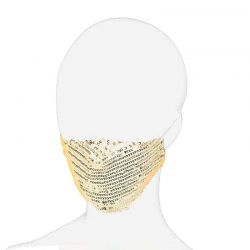 Face Mask Cover Gold Sequin