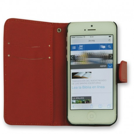 Funda Libro Iphone 5