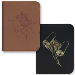 Cover for PocketBook (Hard Cover) - Leather - Zipper