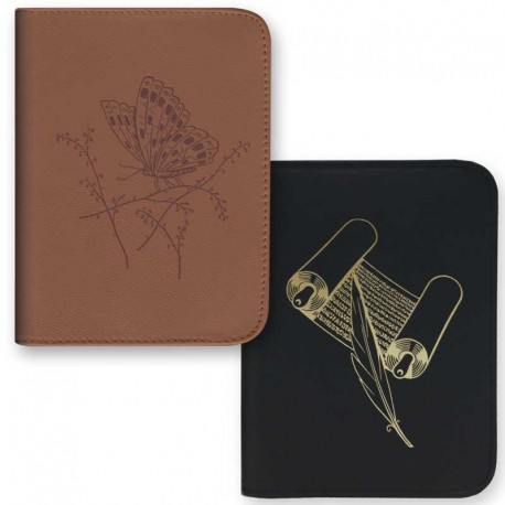 Cover for PocketBook (Hard Cover) - Leather - Zippe
