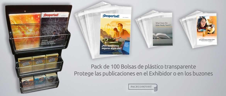 Bolsas de plástico transparente para libros y revistas