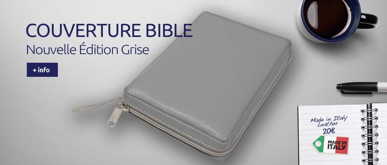 Couverture Bible Grise (2018) - Cuir Italien